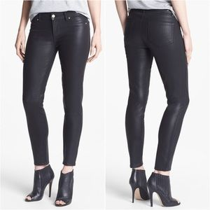 Paige Black Coated Skinny Jeans
